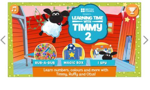 Una de las aplicaciones infantiles para aprender inglés del British Council