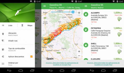 App gasolina Android
