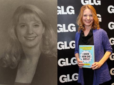 Autora Laura Vanderkam de joven y ahora