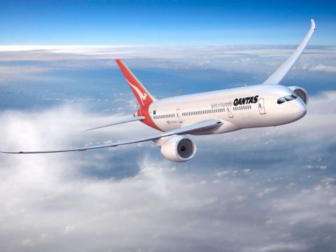 Avion vuelo de Qantas