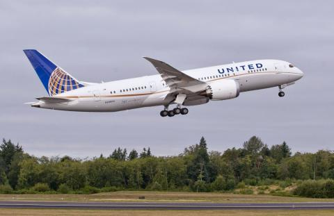 Avion vuelo United Airlines