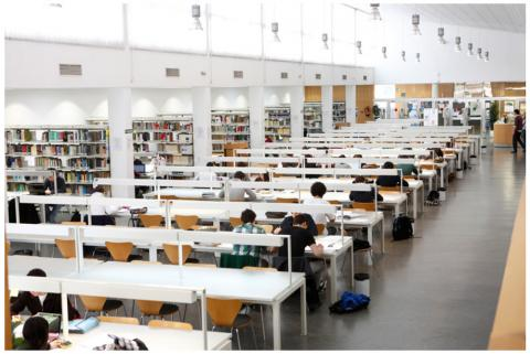 Biblioteca de la Facultad de Economía y Empresa (Universidad de Zaragoza, campus Paraíso).