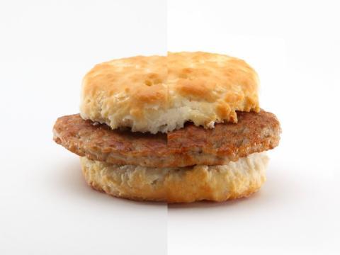 Bocadillo de McDonald's retocado con Photoshop