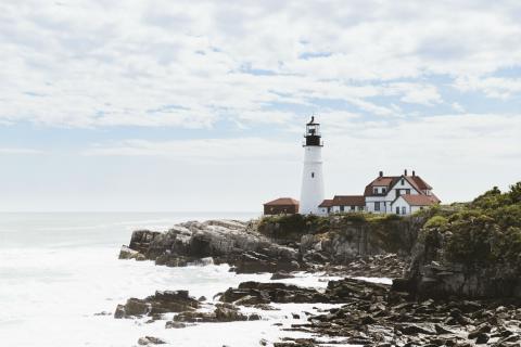 Cape Elizabeth, en la costa de Maine