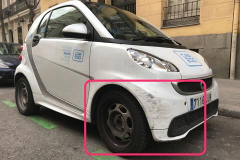 Car2Go smart aparcado en madrid