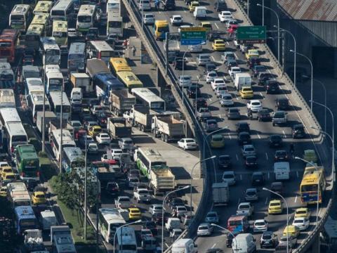 Tráfico en Rio de Janeiro (Brasil)