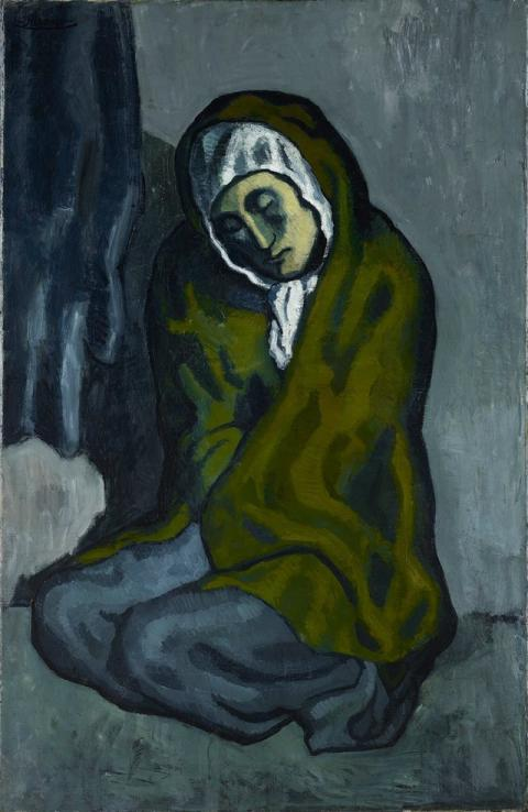 El cuadro de Picasso 'La Miséreuse accroupie' o 'La mendigo en cuclillas'.