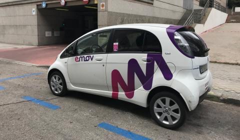 Los coches de Emov son los que más se ven circulando en Madrid.