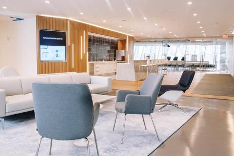 Espacio común del Centro de Innovación Tata