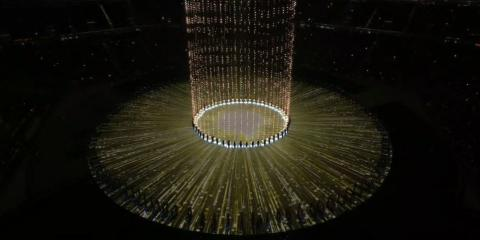 Uno de los espectáculos de los Juegos Olímpicos de Invierno de Corea del Sur.
