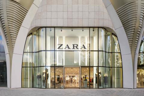 Una imagen de una tienda de Zara en Bruselas.