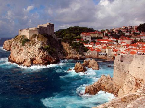 Imagen del paisaje de Dubrovnik, Croacia.