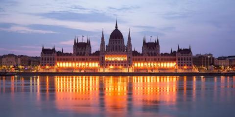 El edificio del Parlamento Húngaro, situado en Budapest.
