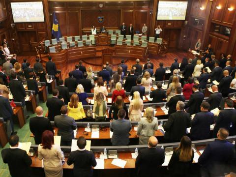 Sesión en el parlamento de Kosovo, situado en Pristina, el pasado agosto de 2017.