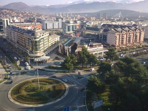 Podgorica, la capital de Montenegro.