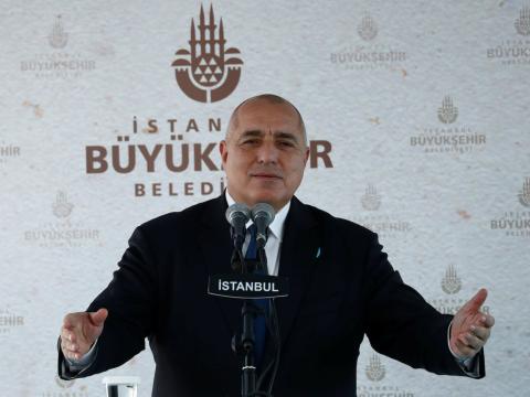 El primer ministro búlgaro, Boyko Borissov, pronuncia un discurso en Estambul el pasado enero de 2018.