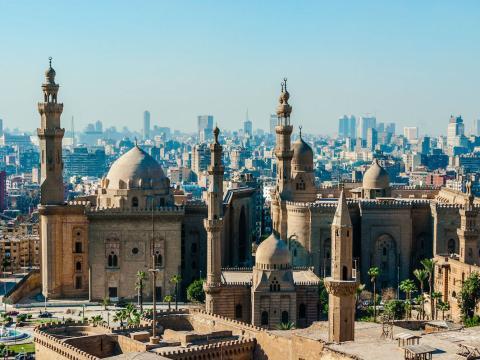 Mezquita-madraza Sultan Hassan en El Cairo (Egipto)