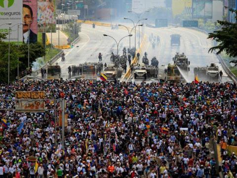 Protesta contra el presidente de Venezuela, Nicolás Maduro.
