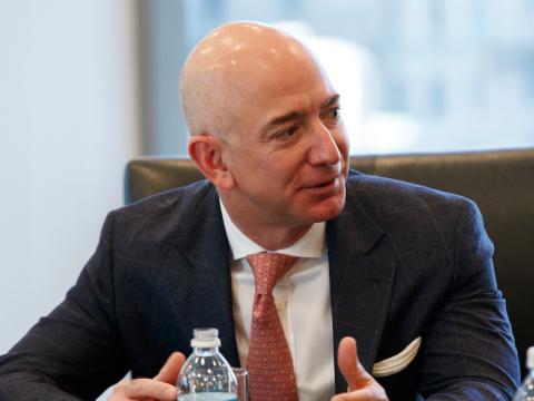 Jeff Bezos en una conferencia.