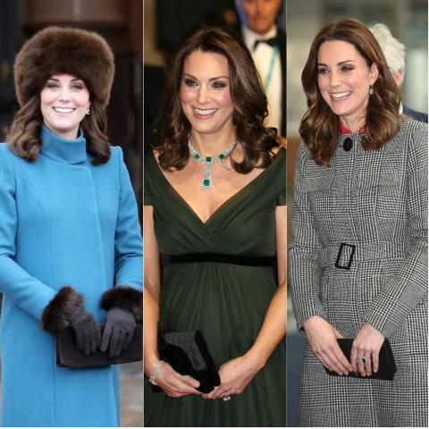 Kate Middleton casi siempre opta por el bolso de mano.