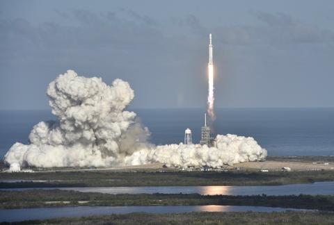 Lanzamiento del Falcon Heavy.