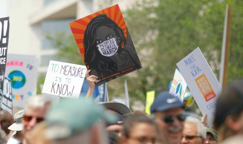 Una marcha por el medio ambiente en Washington.