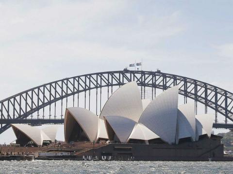La Ópera de Sídney, en Australia.