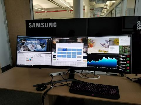 Monitor ultrapanoramico Samsung