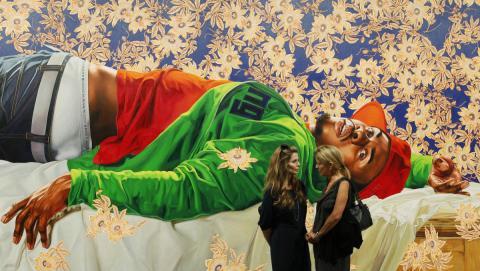 La versión de 'Mujer mordida por una serpiente' realizada por Wiley fue expuesta en Miami Beach.