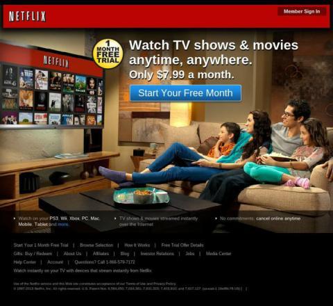 Este era el aspecto de Netflix en 2013.