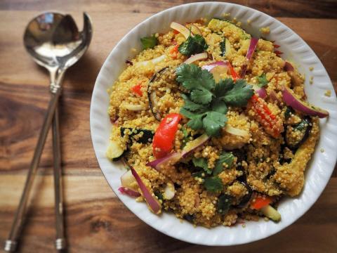 Ensalada de quinoa, un superalimento