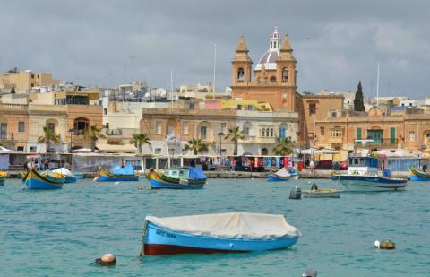 Puerto de Marsaxlokk, en Malta