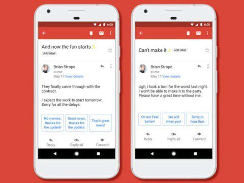 Aplicación de Gmail para móvil