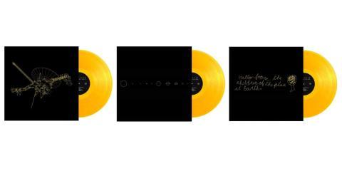 Cada set contiene tres vinilos translúcidos de color dorado.