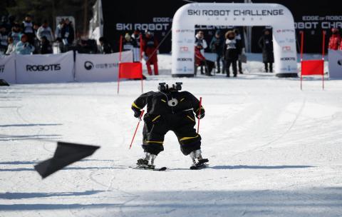 Competición robótica de esquí durante Pyeongchang 2018