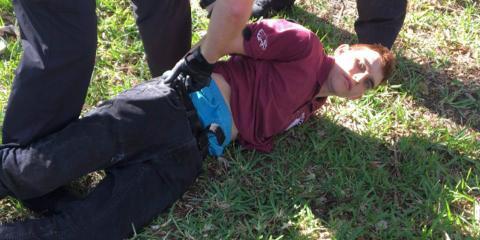 Una supuesta imagen de la detención de Nikolas Cruz, según fuentes del medio WPTV-5.