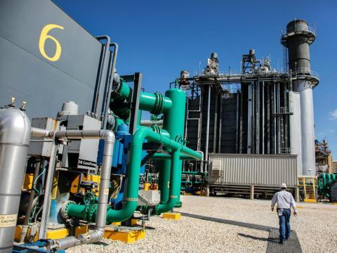 Planta de gas natural sin CO2