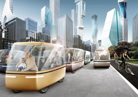 Recreación de una posible ciudad del futuro