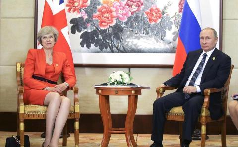 Theresa May Putin