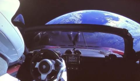 La vista de la Tierra desde el Roadster de Musk.