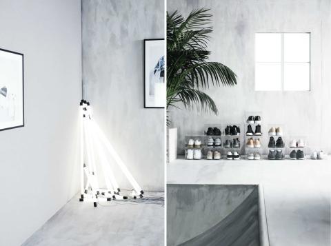 Tubos de luces y cajas de metacrilato de Chris Stamp para Ikea.
