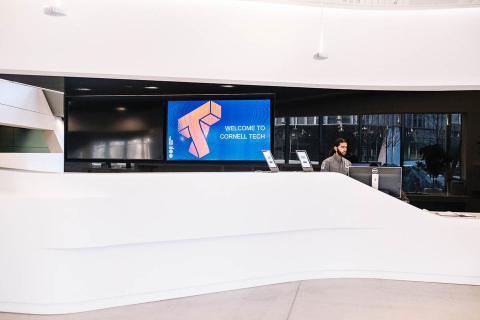 El vestíbulo del Centro Emma y Georgina Bloomberg