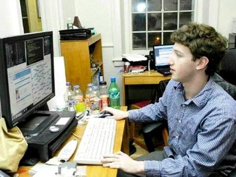 Un joven Mark Zuckerberg.