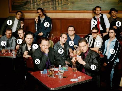 La conocida como mafia PayPal, con Peter Thiel en el número 8.