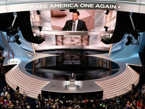 Thiel se hizo con el escenario durante la Convención nacional del Partido Republicano de Estados Unidos.