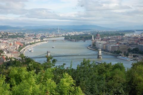 Vista aérea de Budapest