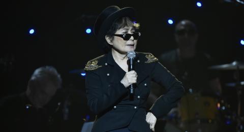 Yoko Ono en el concierto del 75 cumpleaños de John Lennon en 2015, en Nueva York.