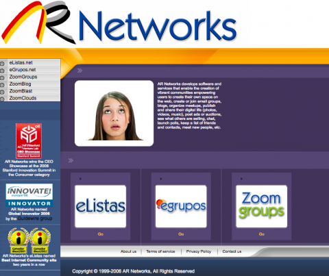 ARNetworks, la noventera web de Rogelio Bernal