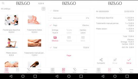 La aplicación de LG Biz&Go permite llevar un control total del negocio a través del teléfono móvil.