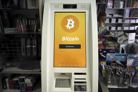 Un cajero de Bitcoin en Grecia